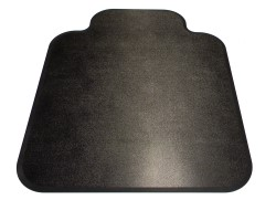 Black Diamond Heavy Duty Chair Mats - Rigid Polymer-Single-Lip-Patterns