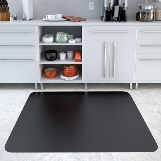 Black Chair Mats For Hard Floors   Vinyl