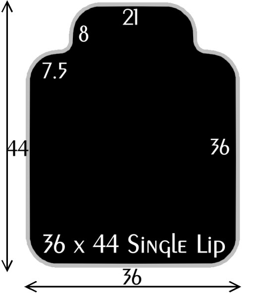 Black Polymer Chair Mats 36x44 with 21x8 Single Lip