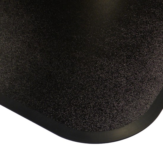 Black Polymer Chair Mats 46x55 Rectangle