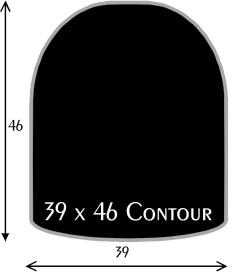 Black Polymer Chair Mats 39x46 Contour