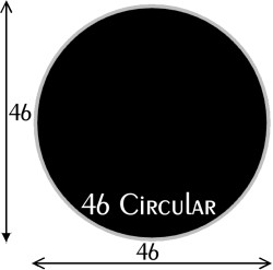 Black Polymer Chair Mats 46 inch Circle