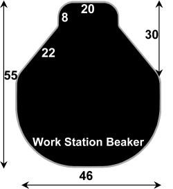 ABS4655BK - Black Polymer Chair Mats 46x55 Workstation Beaker