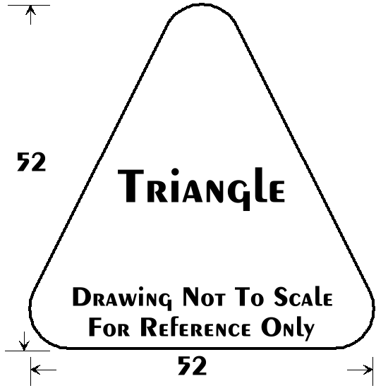 Deluxe NonStudded 145 52x52 Triangle